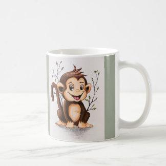 Manny le singe mug blanc