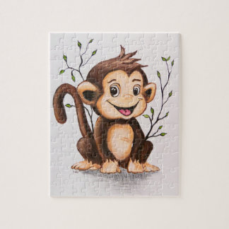Manny the Monkey Jigsaw Puzzle