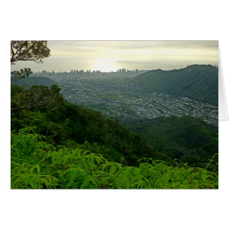 Manoa Valley to Waikiki Card