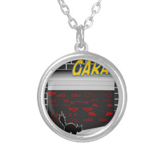 manomtr garage silver plated necklace