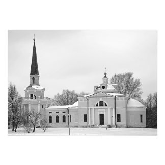 Manor church in Moscow estate Vvedenskoe Photo Print