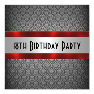Man's 18th Birthday Invitation