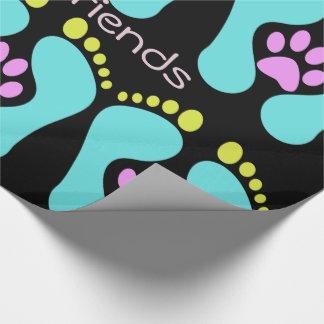 Man's Best Friend-Dog Paw, Foot Design -Gift Wrap