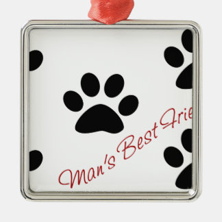 Man's best friend metal ornament