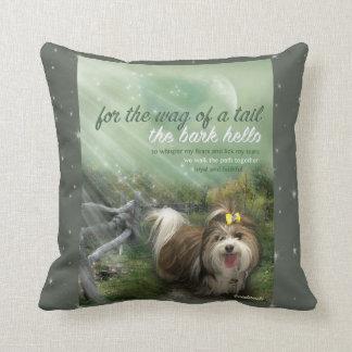 mans best friend pillow