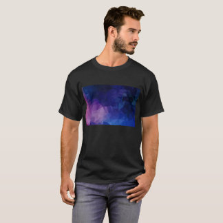 Mans design t-shirt : Black with geometric art