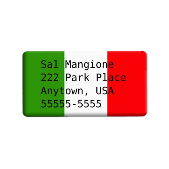 Man's Handsome Italian Address Label Template