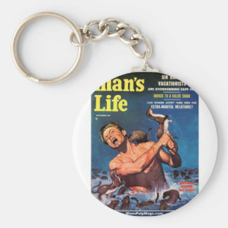 Man's Life, Sept. 1956 - Weasels Ripped My Flesh! Keychain
