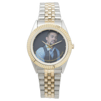Mans PHOTO Watch RETIREMENT - Commemorative Name
