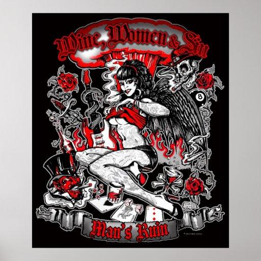 Man's Ruin: Wine Women & Sin Poster