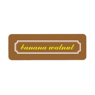 Mansard Border Flavor Label, Banana Walnut Return Address Label