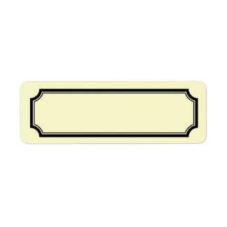 Mansard Border Label, Off-White / Cream