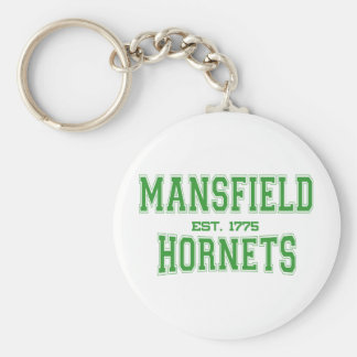 Mansfield High School Hornets Basic Round Button Keychain