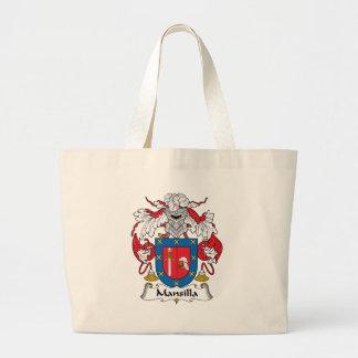 Mansilla Family Crest Large Tote Bag