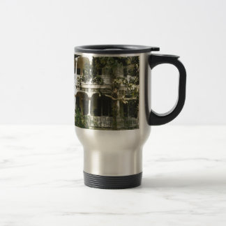 mansion in texas port arkansas travel mug