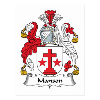 Manson Family Crest Postcard
