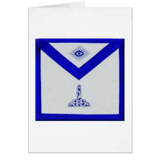 Mansonic Senior Warden Apron Card