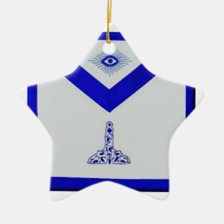 Mansonic Senior Warden Apron Ceramic Ornament