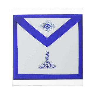 Mansonic Senior Warden Apron Notepad