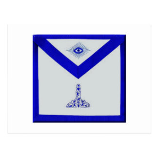 Mansonic Senior Warden Apron Postcard
