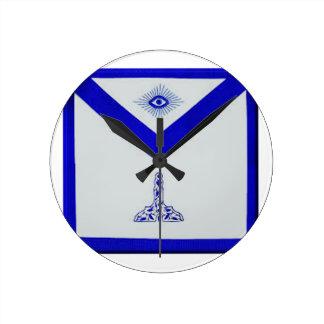 Mansonic Senior Warden Apron Round Clock