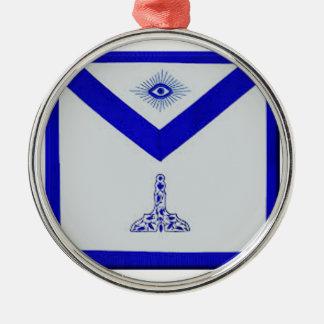 Mansonic Senior Warden Apron Silver-Colored Round Ornament