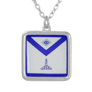 Mansonic Senior Warden Apron Silver Plated Necklace