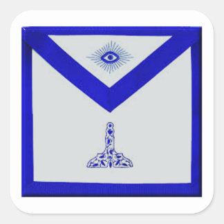 Mansonic Senior Warden Apron Square Sticker
