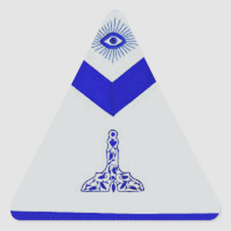 Mansonic Senior Warden Apron Triangle Sticker