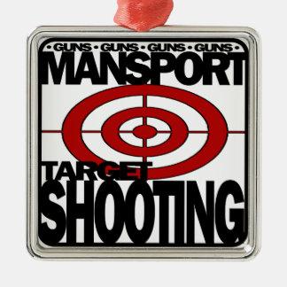MANSPORT GUNS TARGET SHOOTING ORNAMENT