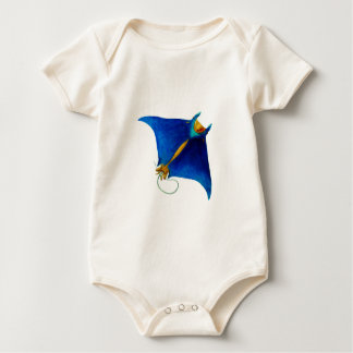 manta ray art baby bodysuit