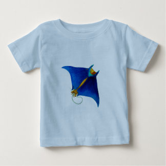 manta ray art baby T-Shirt