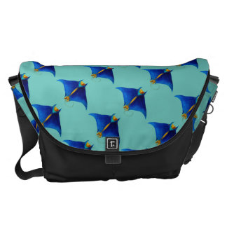 manta ray art courier bags