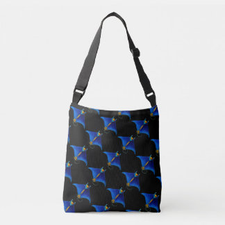 manta ray art crossbody bag