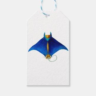 manta ray art gift tags