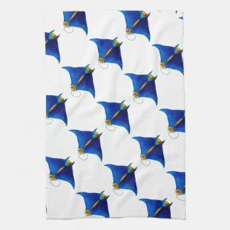 manta ray art kitchen towel