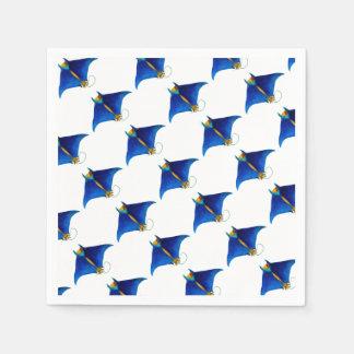 manta ray art paper napkins