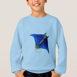 manta ray art sweatshirt