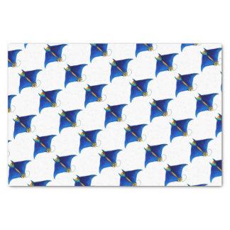 manta ray art tissue paper