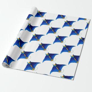 manta ray art wrapping paper