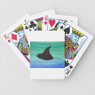 Manta Ray Bicycle Playing Cards
