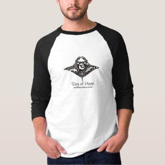 Manta Ray of Hope MMF Men's Raglan Black Artwork T-Shirt