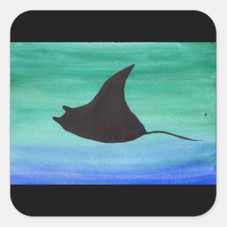 Manta Ray Square Sticker