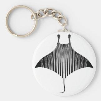 Manta Ray Tattoo Art Keychain