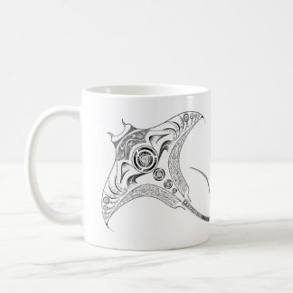 Manta Ray Tribal Dotwork Mug