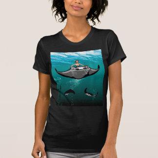 Manta Ray with mermaid T-Shirt