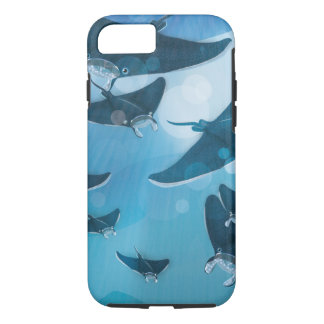 Manta Rays under the ocean iPhone 7 Case