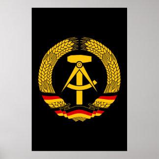 Manteau de l Allemagne de l Est des bras du joint Affiche