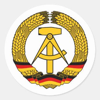Manteau de l Allemagne de l Est des bras du joint Autocollant Rond