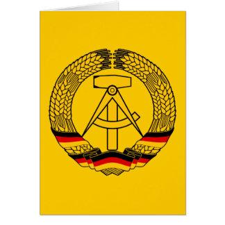 Manteau de l Allemagne de l Est des bras du joint Cartes De Vœux